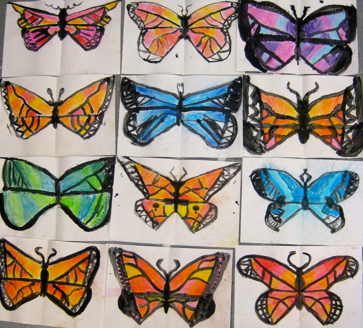 Cassie Stephens Butterfly Art Lesson