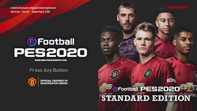 PES 2020 Manchester United Graphic Menu for PES 2017