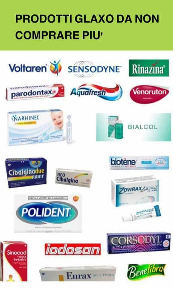 Boicotta-Glaxo-prodotti