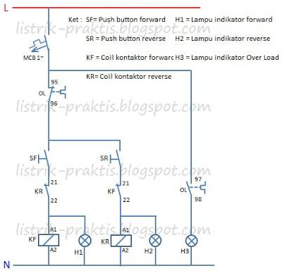 Motor Listrik 3 Fasa Forward Reverse  ListrikPraktis