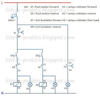 Modifikasi motor forward - reverse untuk buka tutup motor valve