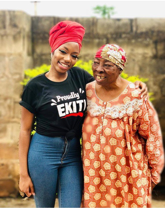 #BBNaija 2019: Khafi visits her Grandmother in Ekiti state