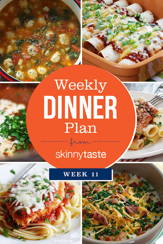 Skinnytaste Dinner Plan (Week 11)          |          Skinnytaste