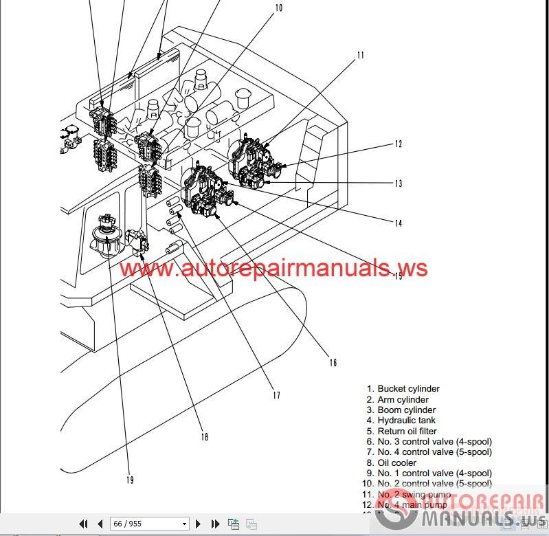 Free Auto Repair Manual   Komatsu Excavator Pc1800