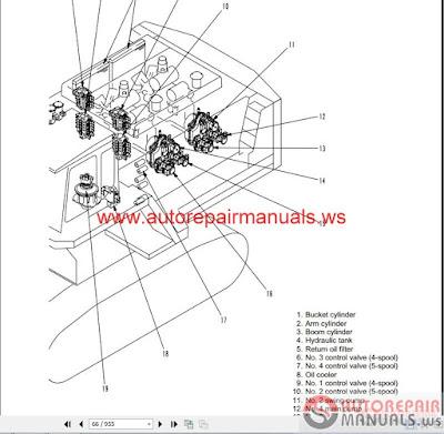 Free Auto Repair Manual : Komatsu Excavator PC1800-6 Shop