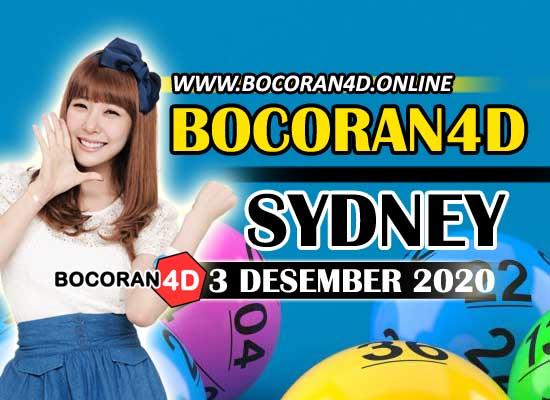 Bocoran Togel 4D Sydney 3 Desember 2020