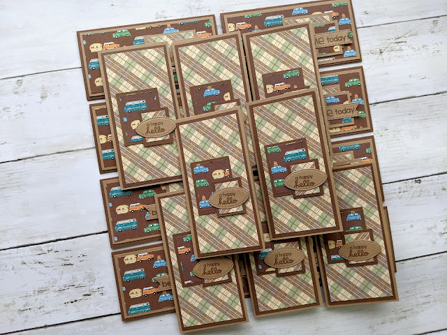 Card for Mini Slimline from 12x12 One Sheet Wonder Template #1 by Jess Crafts