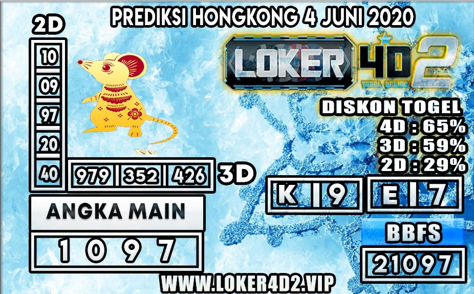PREDIKSI TOGEL HONGKONG LOKER4D2 4 JUNI 2020