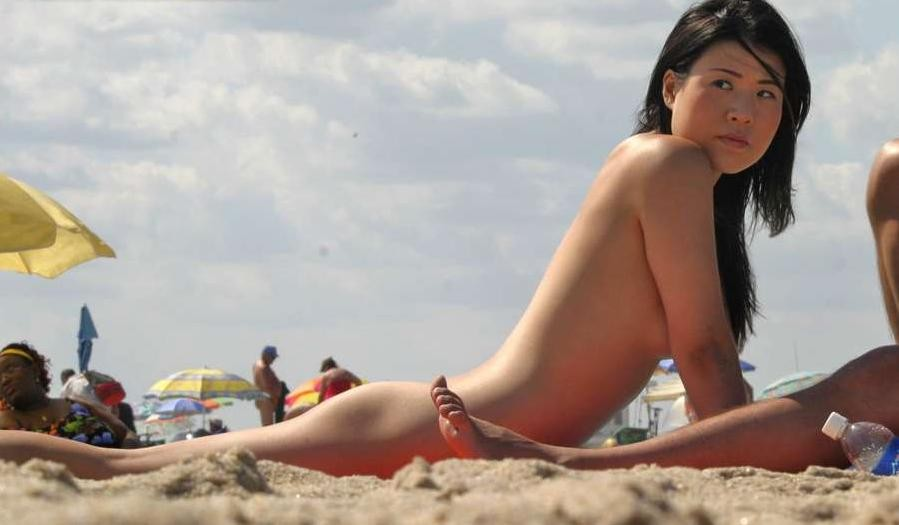 Remarkable, asian naked sex in beach