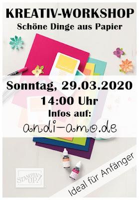 Stampin Up Kreativ Workshop Anfänger in Nördlingen