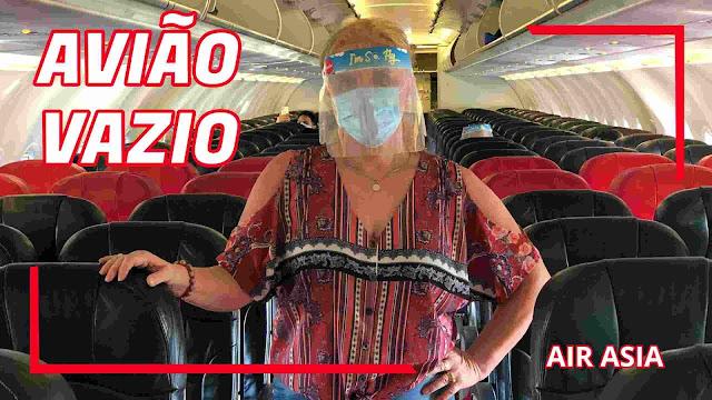 Voando Air Asia na Pandemia