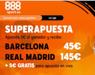 888sport superapuesta clasico liga Barcelona vs Real Madrid 18 diciembre 2019