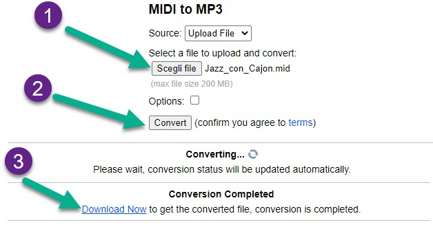 midi to mp3 online converter
