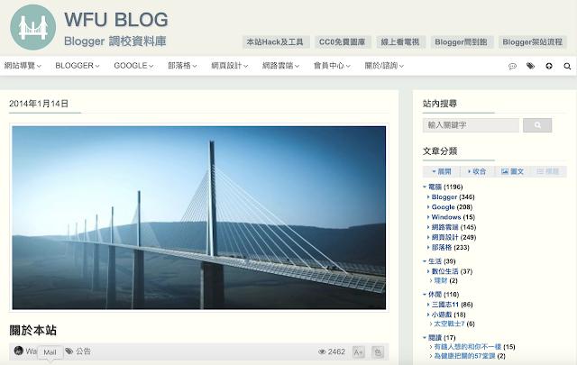 wfu blog - blogger 調校資料庫
