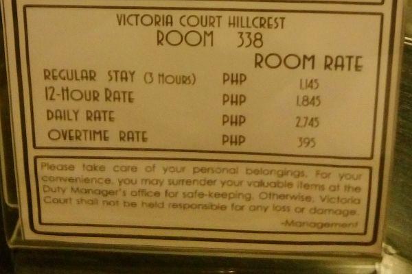 Victoria Court Pasig Room Rates