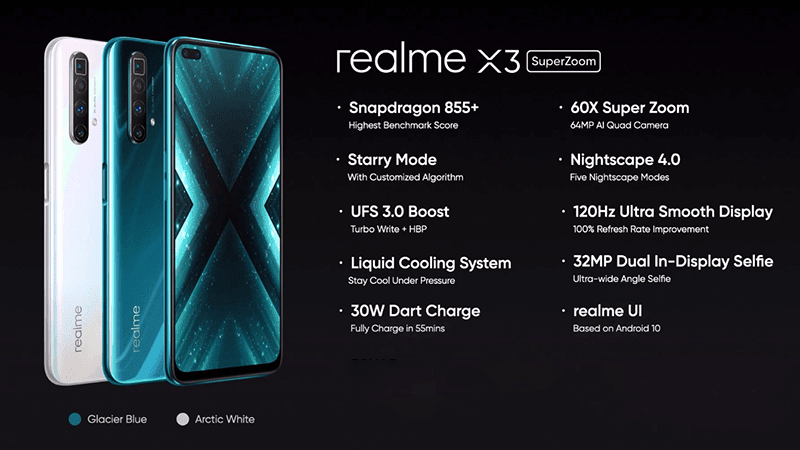 Realme X3 And X3 Superzoom Now Officially Launched In India