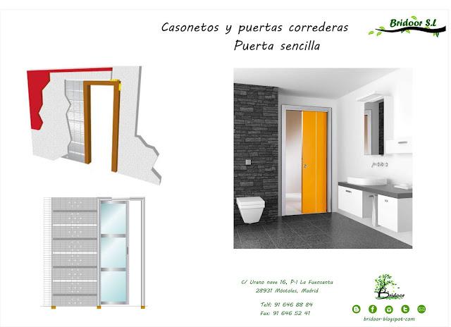 Casoneto Puerta Corredera, hueco doble o sencillo