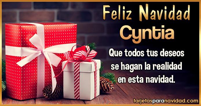 Feliz Navidad Cyntia