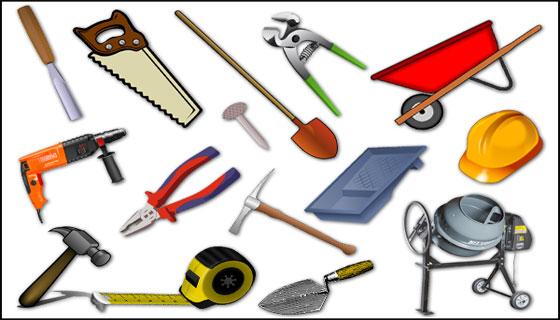 أدوات البناء باللغة الفرنسية