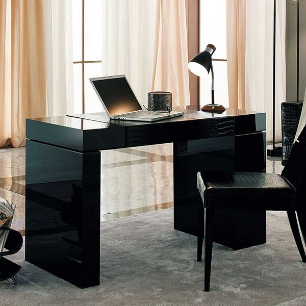 Black Executive Desk Home Office Furniture Collections