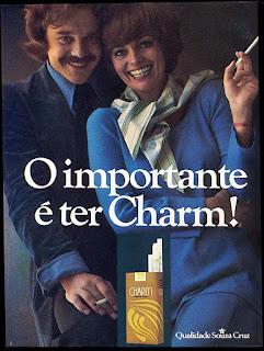 propaganda cigarros Charm - 1976. propaganda anos 70; história decada de 70; reclame anos 70; propaganda cigarros anos 70; Brazil in the 70s; Oswaldo Hernandez;