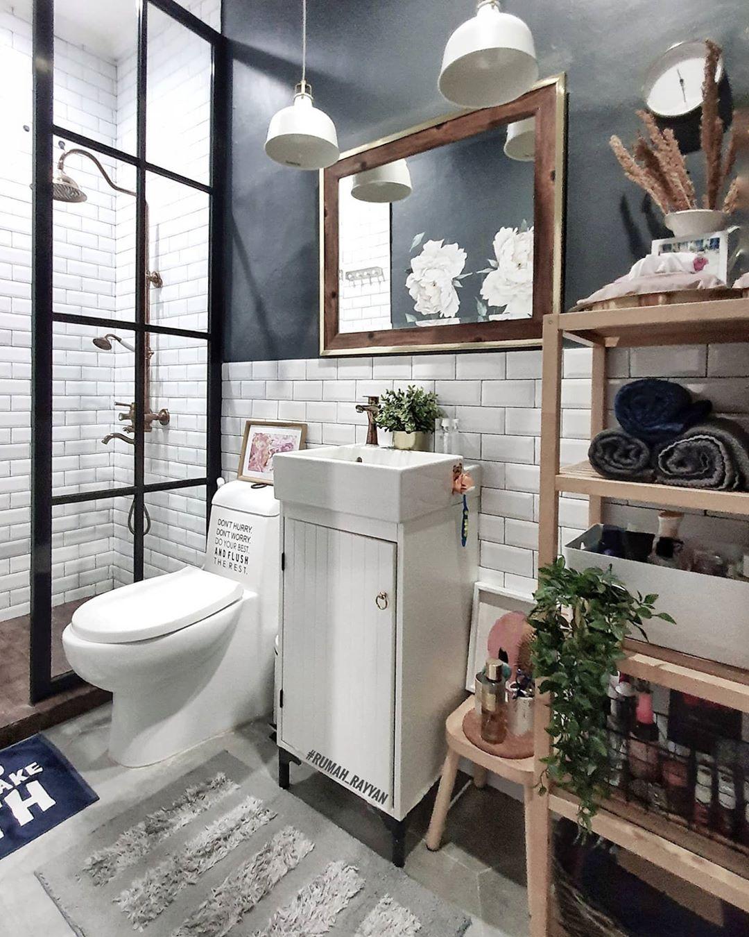 5 Best Bathroom Design Ideas Grid Pattern Door