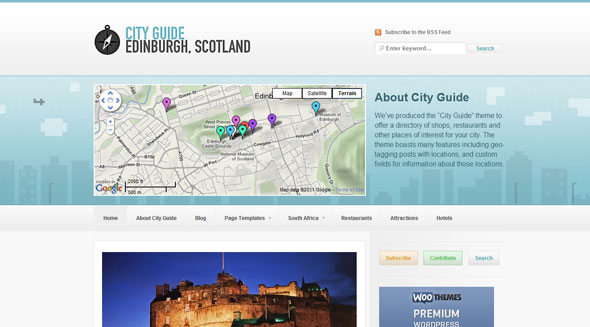 City Guide Theme Free Download by WooThemes.