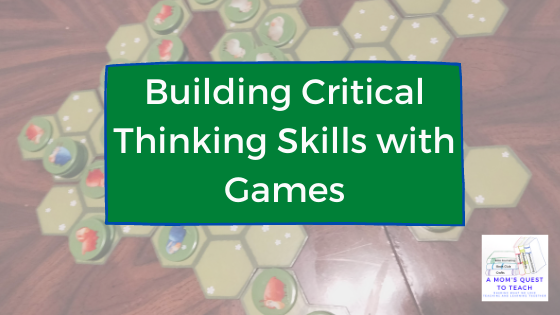 A Mom's Quest to Teach: Building Critical Thinking Skills with Games: A Review of Battle Sheep with game board in background