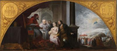 El patricio revelando su sueño al Papa Liberio - Murillo - 1662/65 Óleo sobre tela, 232 x 522 cm Museo del Prado - Madrid
