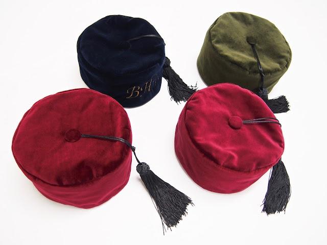 Gentleman's velvet smoking cap men's smoker hat