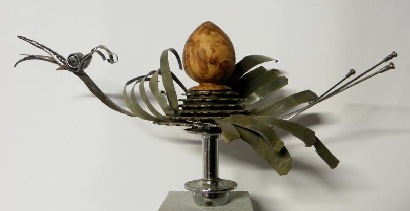 Laylak la cigogne - sculpture métal