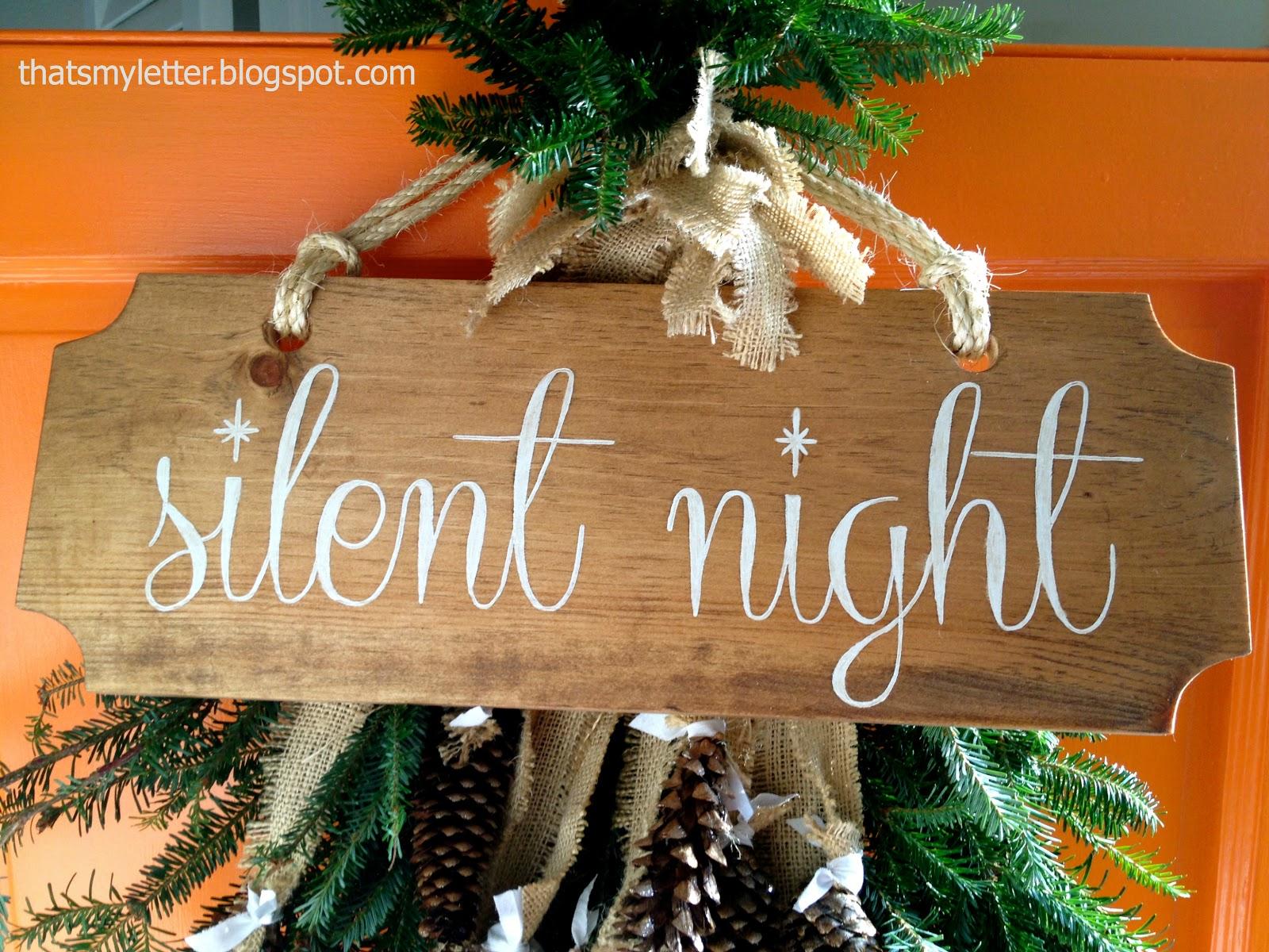Silent Night Door Decorations