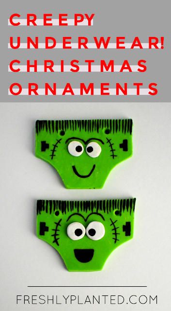 Creepy Pair of Underwear! Easy Holiday Ornament for Kids