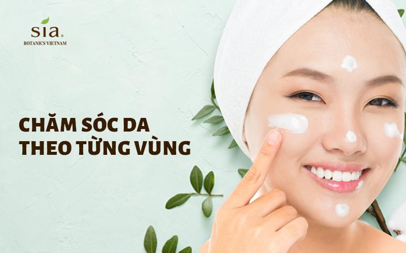 chăm sóc da từng vùng cho các bước chăm sóc da hỗn hợp trên da mặt