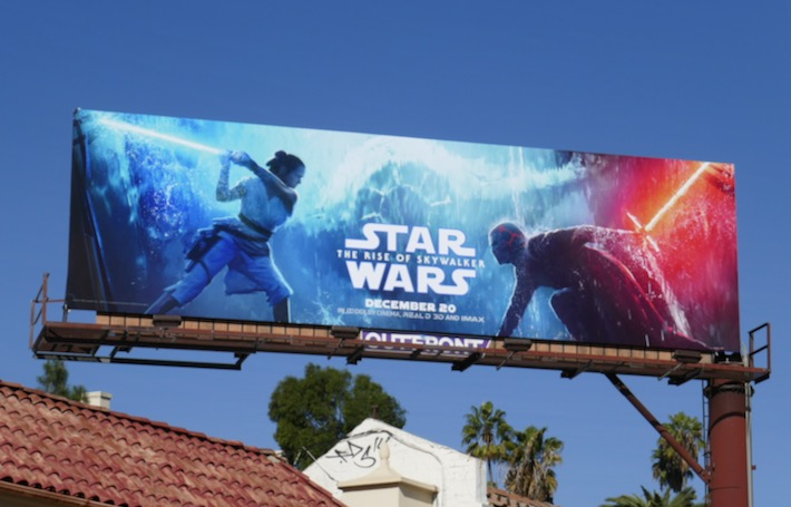 Star Wars Rise of Skywalker movie billboard