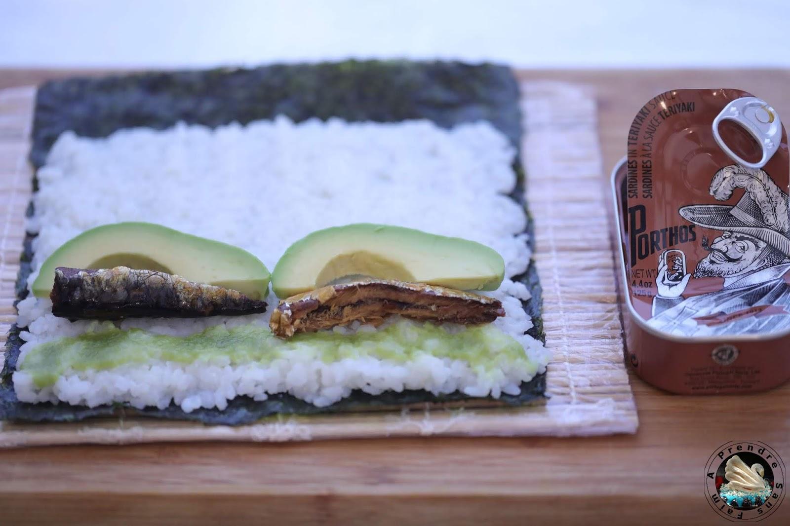 Makis de sardines à la sauce teriyaki