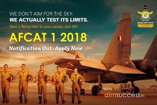 AFCAT 1 2018 Notification Out Apply Now