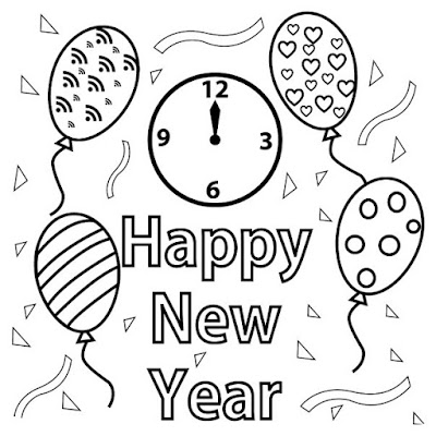 happy new year images black and white download