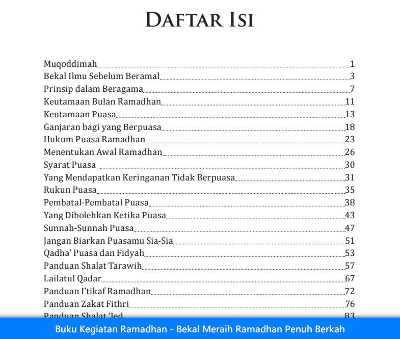 Buku Kegiatan Ramadhan - Bekal Meraih Ramadhan Penuh Berkah