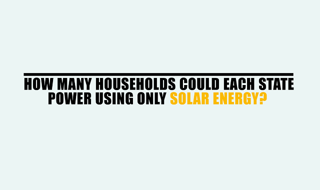 How Many Households Could Each State Power Using Only Solar Energy?