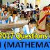 "Download BSE Odisha HSC Exam 2017 ""MTH (Mathematics)"" - Objective Question Paper PDF"