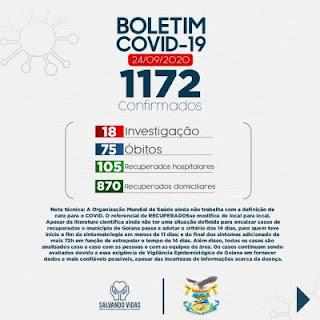 Coronavírus: Prefeitura de Goiana contabiliza 1172 casos confirmados e 75 óbitos