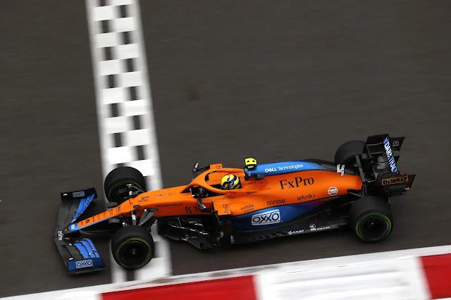 2021 Russian Grand Prix Saturday Lando Norris, McLaren MCL35M above
