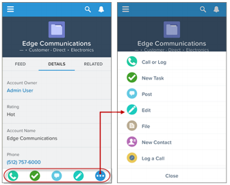 SimplySfdc com: Add or remove Actions in Salesforce mobile app