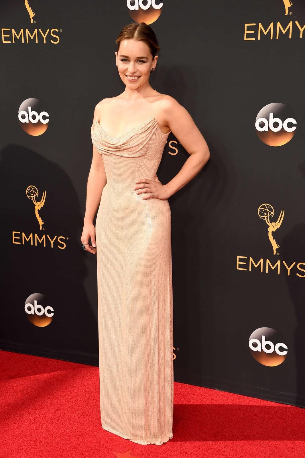 Emilia Clarke at The Emmy Awards 2016