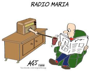 radio maria, ricezione, donazioni, vignetta, satira
