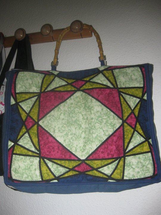 Las manualidades de rosa bolso patchwork - Manualidades patchwork bolsos ...