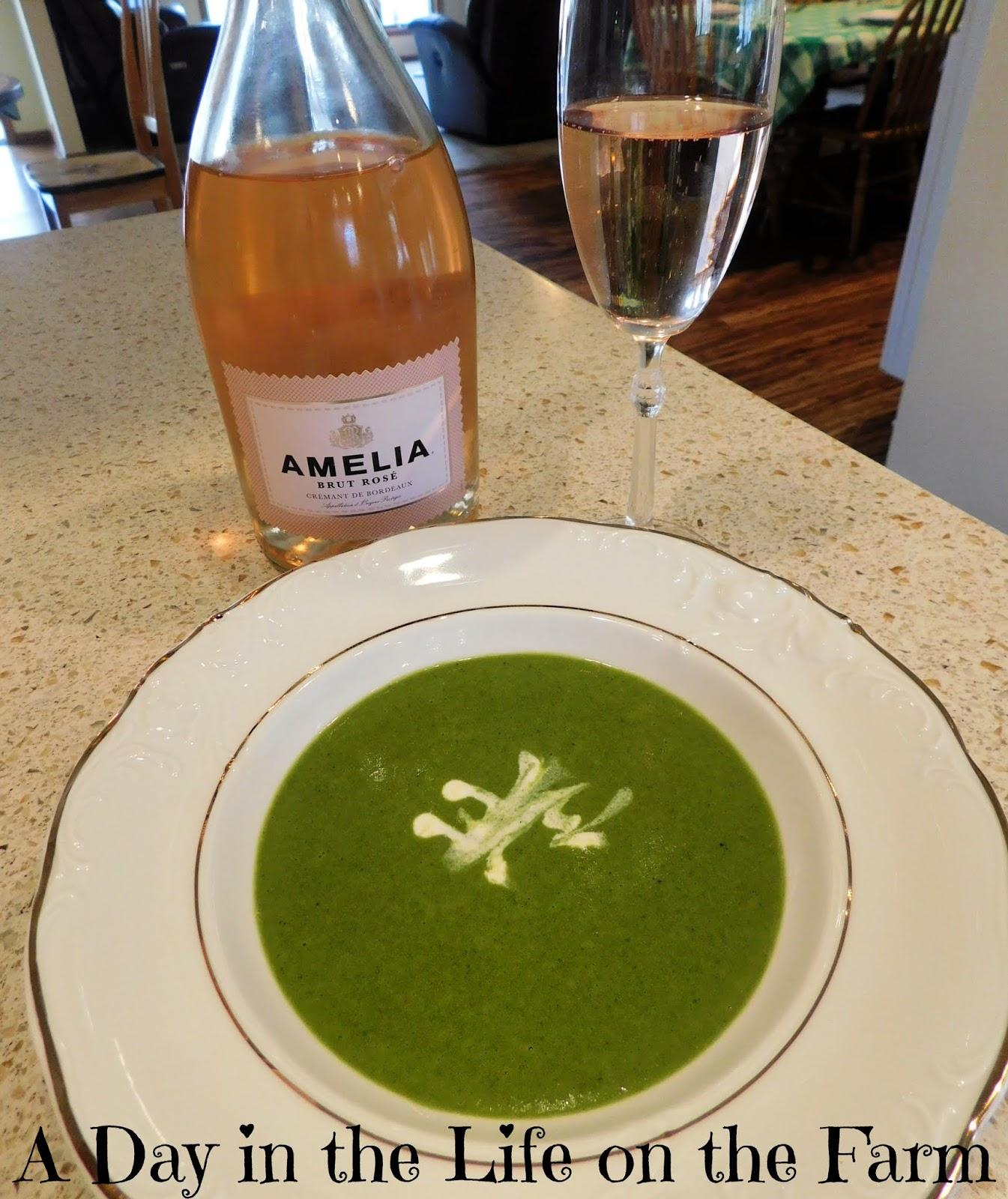 Wilted Spring Greens Soup