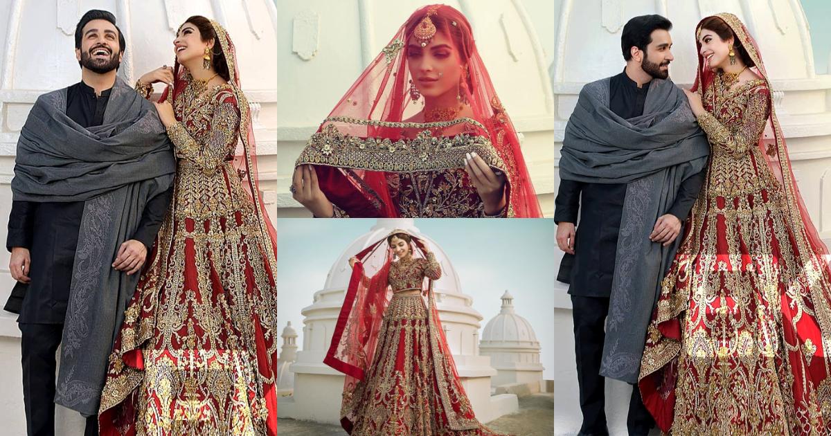 Kinza Hashmi and Azfar Rehman Beautiful Photo Shoot For Erum Khan
