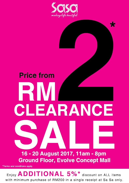 SaSa Clearance Sale Discount Offer Promo